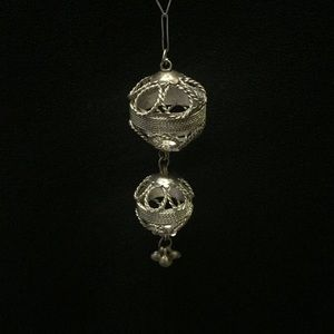 Jewelry - Sterling Silver Filigree Ball Pendant and Chain